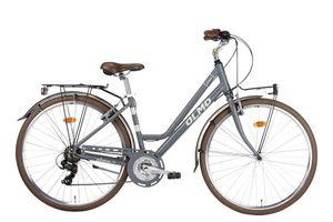 28 Zoll Trekkingrad Damen Olmo Borgo 21 Gänge Aluminium Grau 48 cm Rahmengröße