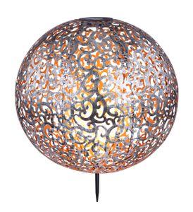 Globo Lighting SOLARLEUCHTE Solarleuchte Metall silberfarben, 1xLED, 33745
