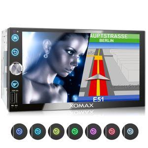 XOMAX XM-2VN768 2DIN Navi Autoradio mit GPS, SD, USB und BLUETOOTH
