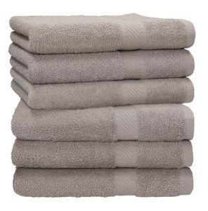 Betz 6 Stück Handtücher PALERMO 100% Baumwolle Handtuch-Set  verschiedene Farben Farbe - stone