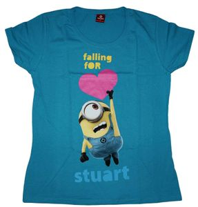 Ladys Shirt - Minions - Falling for Stuart, Größe:L