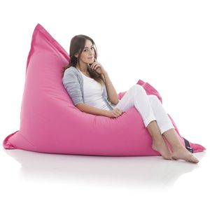 Original LAZY BAG Sitzsack XXL 400L Riesensitzsack aus Baumwolle 180x140cm  - Pink
