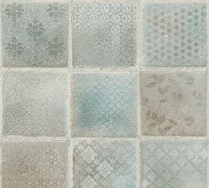 A.S. Création Fliesentapete Neue Bude 2.0 Edition 2 Ella Vliestapete blau grün creme 10,05 m x 0,53 m
