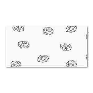 Tulup® Leinwandbild - 140x70 cm - Wandkunst - Drucke auf Leinwand - Leinwanddruck  - Sonstige - Schwarzweiß - Abstraktes Muster