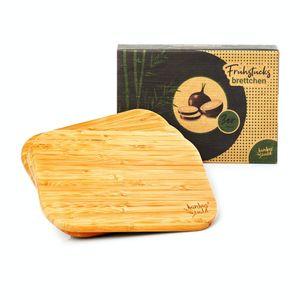 bambuswald© ökoligsches 3er Set Frühstücksbrettchen / Frühstücksbretter | 100% nachhaltiger Bambus - Schneidebrett-Set Brettchen Holzbrett