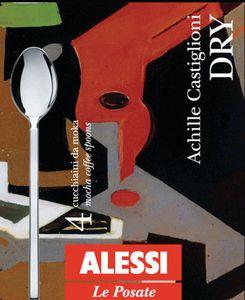 ALESSI LE POSATE -  Dry Set aus 4 Mokkalöffeln aus 18/10 Edelstahl