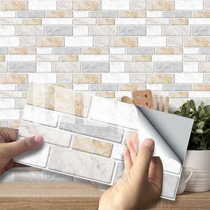 3D Fliesenaufkleber Fliesenfolie Fliesensticker Küche Bad Küchenrückwand Deko Menge :27 stk