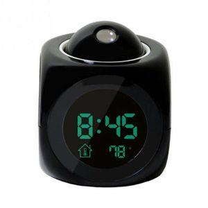 Digital Wecker Projektionswecker Projektionsuhr Wecker-Uhr mit Projektion Projektor LED Spiegel Wecker