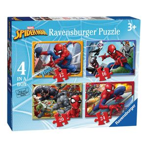 4 in 1 Puzzle Box | Spiderman | Marvel | Ravensburger | Kinder Puzzle