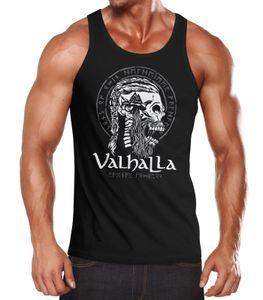 Herren Tank-Top Valhalla Totenkopf Runen Nordische Mythologie Ragnar Lodbrok Muskelshirt Muscle Shirt Neverless® schwarz XXL