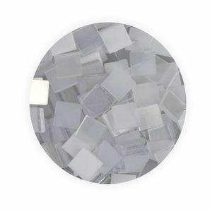 Creleo - Mosaiksteine 10x10mm weiß 190 Stück 45 g