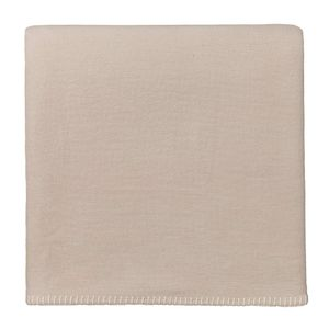 "URBANARA Baumwolldecke ""Laussa"" – 140cm x 200cm, Beige/Eierschale, 100% Baumwolle – Fleece-Decke, GOTS , Decke"