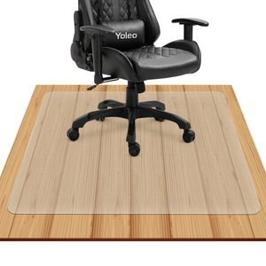 YOLEO Bodenschutzmatte transparent rutschfest 2 Größe Bürostuhl Schreibtischstuhl Unterlage wasserdicht hochwarmfest Kinderfreundlich für Hartböden Fliesen Parkett usw 120 × 90 cm