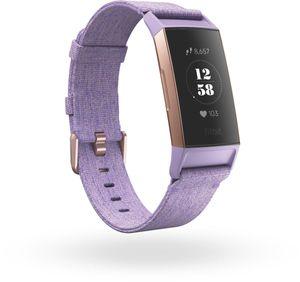 Fitbit Charge 3 - Aktivitäts-Trackerarmband - Roségold - Aluminium - Lavendel - S/L - 50 m