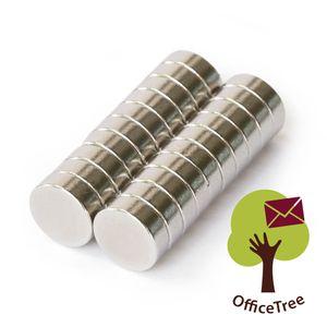 OfficeTree® 20 Neodym Mini-Magnete 8x3mm rund