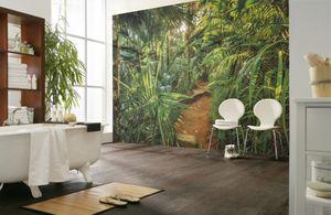 """Komar Fototapete """"Jungle Trail"""", grün/weiß, 368 x 254 cm"""