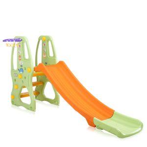 Baby Vivo Kinderrutsche / Rutsche mit Basketballkorb - Orange / Grün