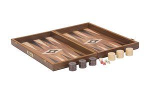 Backgammon set, Walnuss Holz, Exklusiv  Spitzenqualität