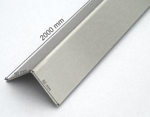 VA-Winkelblech 50mm x 50mm x 2000mm Eckschutz Ecken Schutz Kantenschutz Edelstahl-Winkel V2A