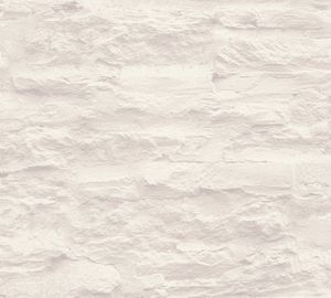 A.S. Création Vliestapete Best of Wood`n Stone 2nd Edition Tapete creme weiß 10,05 m x 0,53 m 959083 95908-3