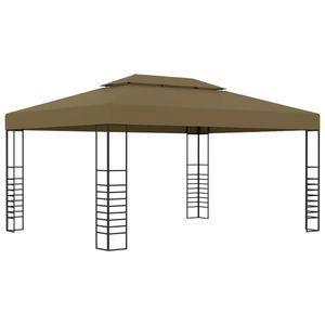 vidaXL Pavillon 3x4 m Taupe 180 g/m²