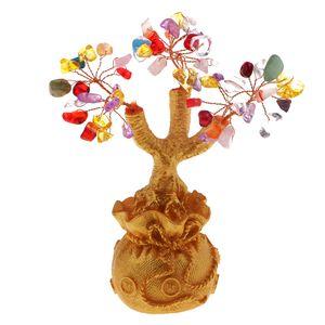Feng Shui Bonsai Kristallbaum Des Reichtums Figur Einzigartiges Design Farbe Mehrfarbig