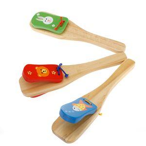 Kinder Baby Holz Castanet Clapper Kinder Percussion Frühen Pädagogisches Spielzeug