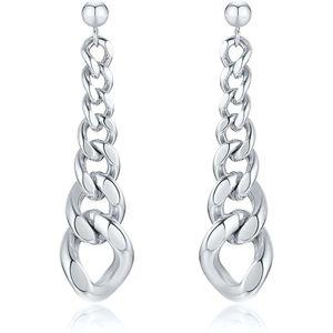 Mllaid Edelstahl Kette Ohrringe Tropfen Kette Ohrring für Frauen Mädchen Link Kette Tropfen Ohrringe Aussage Ohrringe