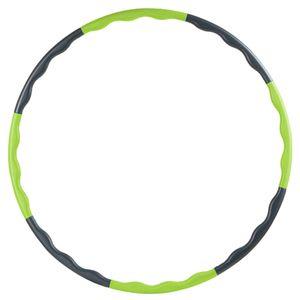 Reifen für Fitnessübungen zur Gewichtsreduktion, 80 cm Einstellbares Gewicht -Grün + Schwarz