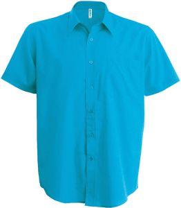 Kariban Herren Hemd Ace kurzarm K551 Türkis Bright Turquoise 4XL