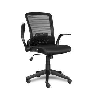 Bürostuhl Ergonomischer Drehstuhl Schreibtischstuhl Chefsessel mit Mesh Netz  Schwarz