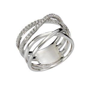 Zeeme Silber Ring 925/- Sterling Silber weiß 020 (63,7) Zirkonia weiß 471270196