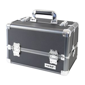 HMF 14901-02 Schminkkoffer, Alu Beauty Case, Kosmetikkoffer, Universalkoffer, 33 x 22,5 x 24 cm