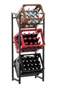 CLP Getränkekistenständer Lennert, Farbe:schwarz, Größe:M