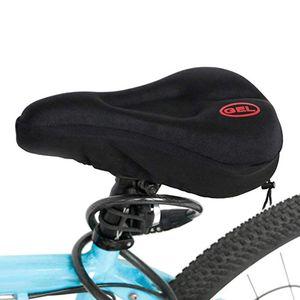 Neue breitere Fahrrad Silikonkissen Soft Pad Fahrrad Silica Gel Sitz Sattelbezug CJM90226531