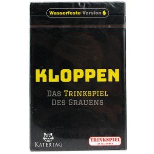 Katertag Kloppen- Das Trinkspiel des Grauens Wasserfeste Version (deutsch)