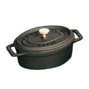 Staub 1101125 Black Kochtopf inkl. Deckel, Gusseisen/Gussaluminium, 11 cm Durchmesser, Induktionsherd-geeignet