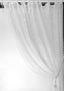 Van Deurs bestickte Gardine Fleur Shabby Landhaus Stil HxB 300x200 cm off white