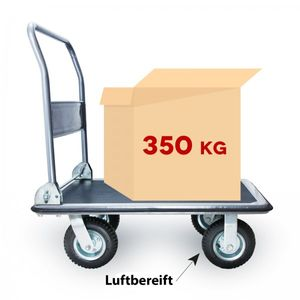 Grafner® Plattformwagen Tragkraft 350kg Transportwagen Lagerwagen Transportkarre