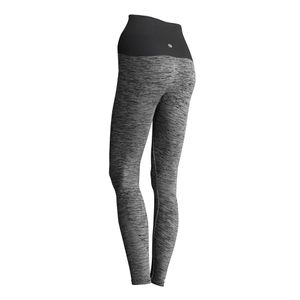 Kidneykaren Damen Sporthose Yogahose Fitnesshose mit Nierenwärmer Multifunktion Stretch Leggins Yoga Wear Pants Grau Melange, Größe:L
