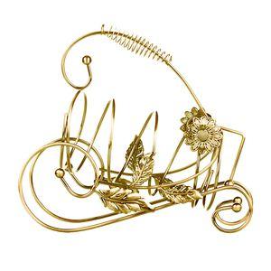 Gold / Bronze Kreatives Weinregal Eisen Champagnerflaschenhalter Einzigartiges Design Farbe Gold