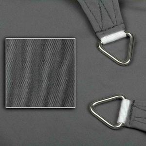 Sonnensegel aus 100% Polyester, Farbe:graphit, Größe:3.5 x 4.5 m, Form:Rechteck