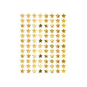Oblique Unique 960 Sterne Sticker Stern Aufkleber für Weihnachten Weihnachtsdeko Geschenkdeko Basteln Glänzend - gold
