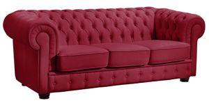 Max Winzer Bridgeport Sofa 3-Sitzer - Farbe: rot - Maße: 200 cm x 98 cm x 76 cm; 2883-3100-2070123-F07