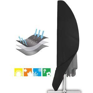 Schutzhülle, für Ampelschirm passend für 2m, 3m, 3,5m Durchmesser, Sonnenschirm-Hülle, UV-Schutz, durchgängiger Reißverschluss und Boden Kordelzug, aus Oxford 210D, wetterfest