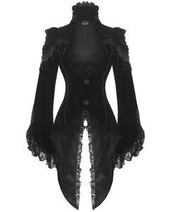Steampunk / Gothic Damen Samt-Frack (21119), Größe:M
