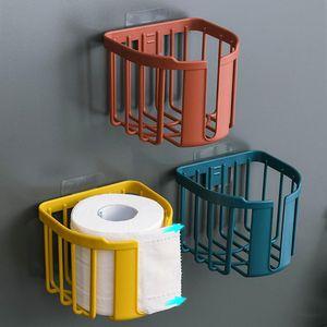 Nordic Badezimmer Dusche Wand Halterung Tissue Rollen Papier Lagerung Rack Regal Halter