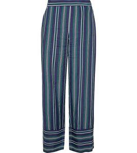 ESPRIT Stoff-Hose modische Damen Business-Hose mit Streifen Blau/Grün/Weiß, Größe:40