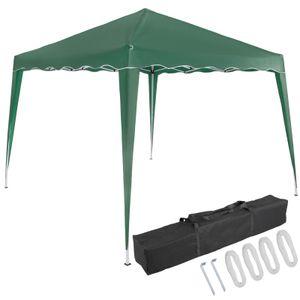Pavillon oder Seitenwand 3x3m UV-Schutz 50+ wasserdicht faltbar inkl. Tasche Faltpavillon Zubehör Pop Up Zelt Capri, Farbe:grün