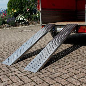 ECD Germany 2er Set Auffahrrampe - aus Aluminium - Antirutsch - 400kg 149cm - Reifenbreite bis 200mm - f?r Anh?nger Motorrad ATV - Auffahrrampen Verladerampe Laderampe Verladeschiene Motorradrampe